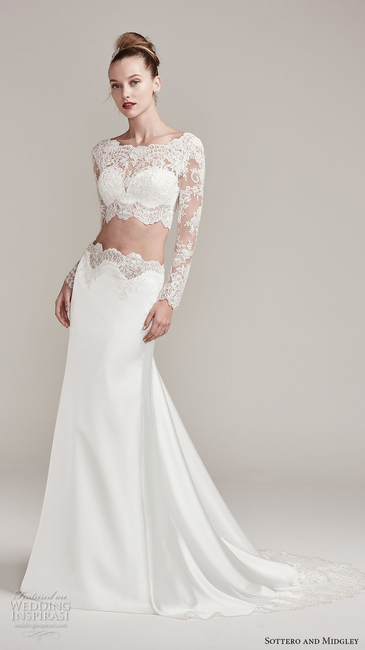 66 best crop tops images on pinterest wedding frocks for Long sleeve wedding dress topper