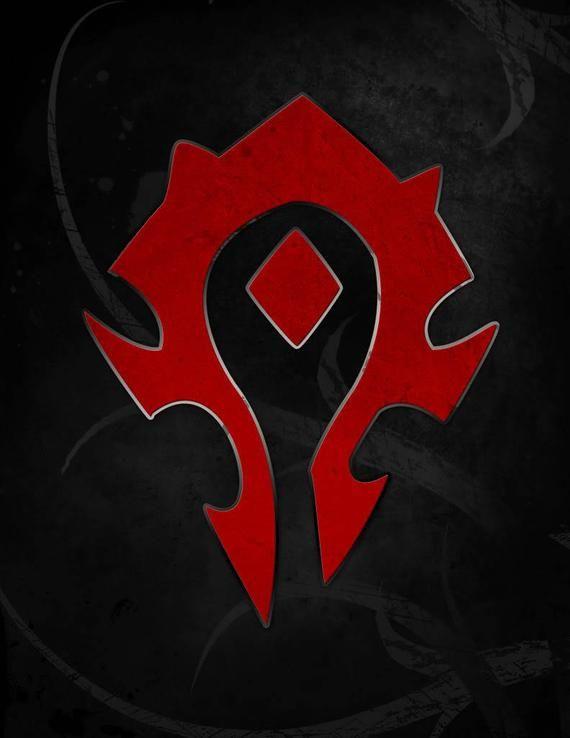 Horde Symbol Keychain inspired World of Warcraft WoW Gamer gift