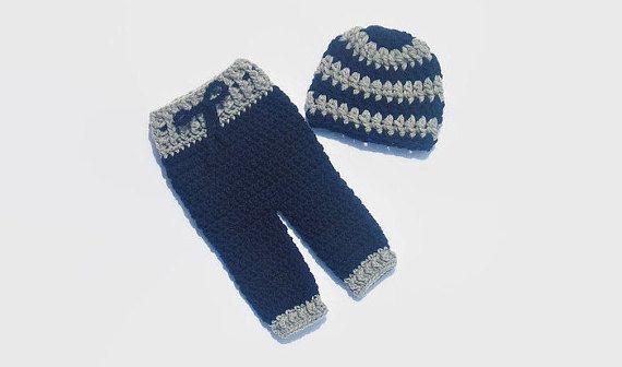 Baby Boy Hat & Pants Crochet Newborn Boy by DeesCozyCreations