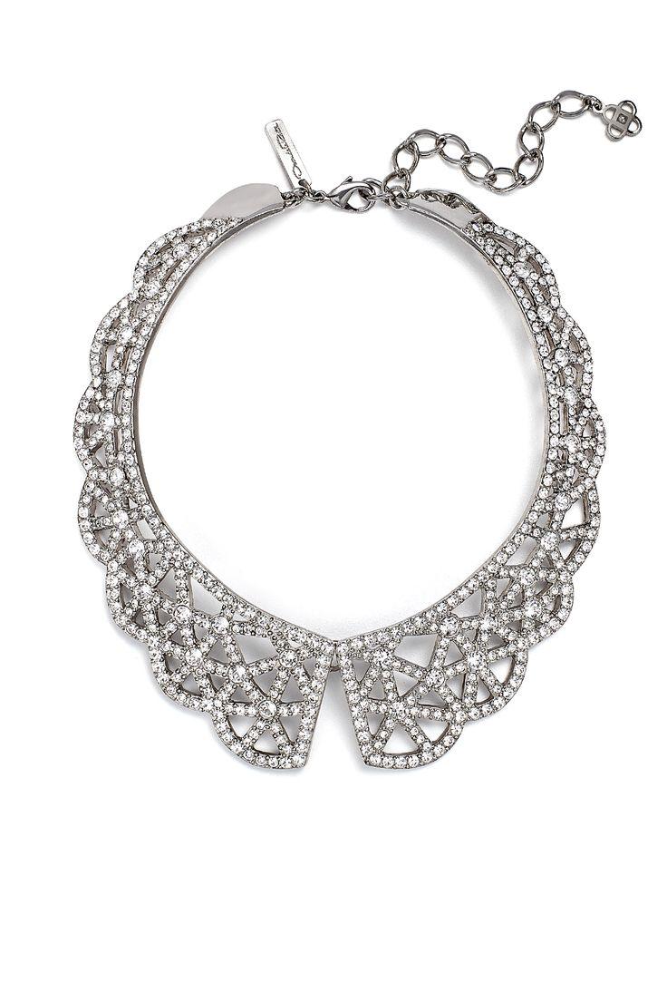 Crystal Web Necklace by Oscar de la Renta for $150 | Rent The Runway