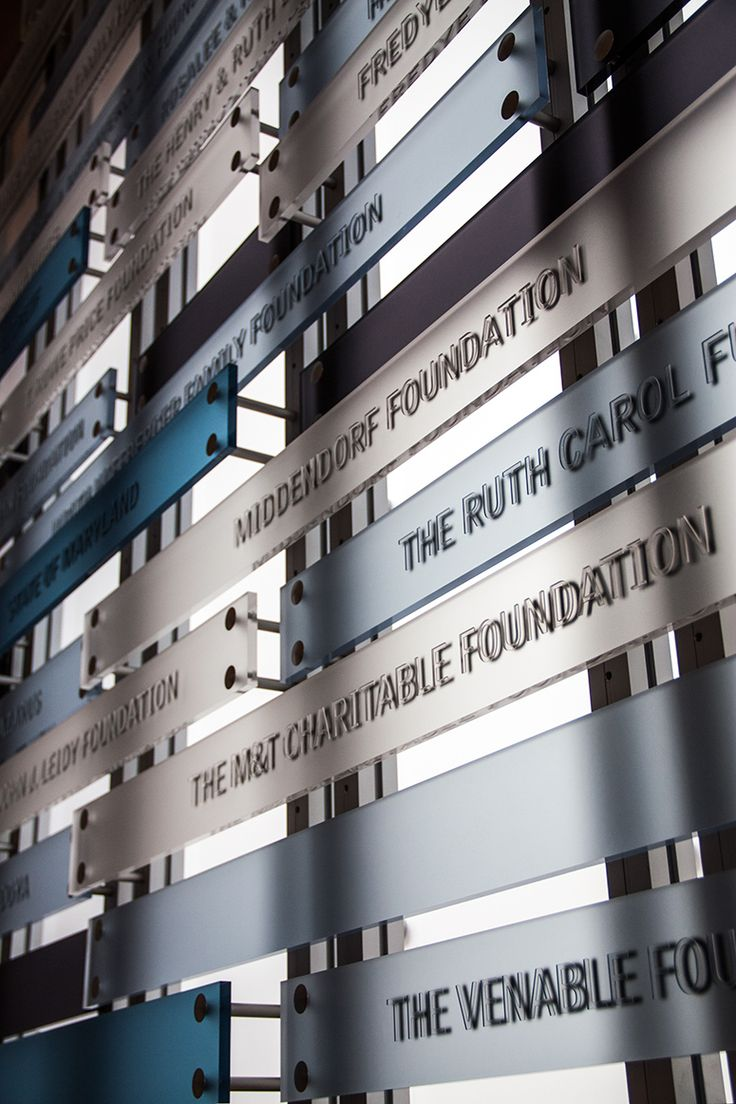 donor wall at mica maryland institute college of art usa by ashton design