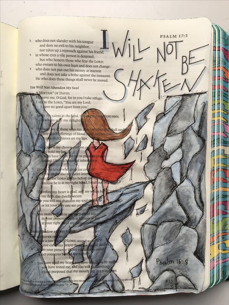 Psalm 16:8 ESV Journaling Bible with Caran d'Ache Museum pencils and Micron Pens. #BriahBatAryeh