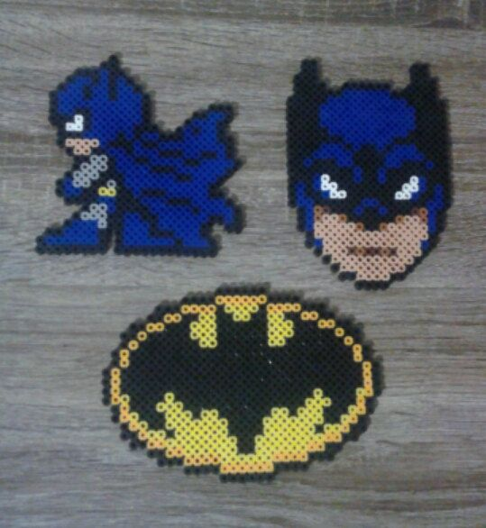 Batman Perler Beads                                                                                                                                                                                 Plus