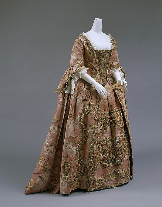 Dress (Robe à la Française) 1750, French made of silk