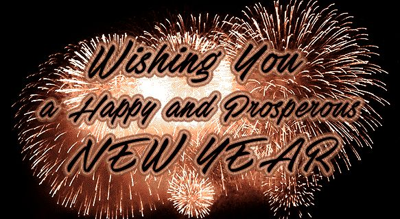 happy new year gif with fireworks e card greetings