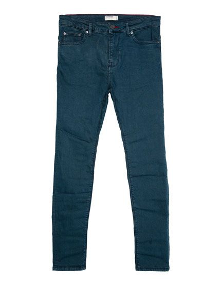JEANS SUPER SKINNY FIT LAVADO OSCURO JEANS - HOMBRE PULL&BEAR Mexico