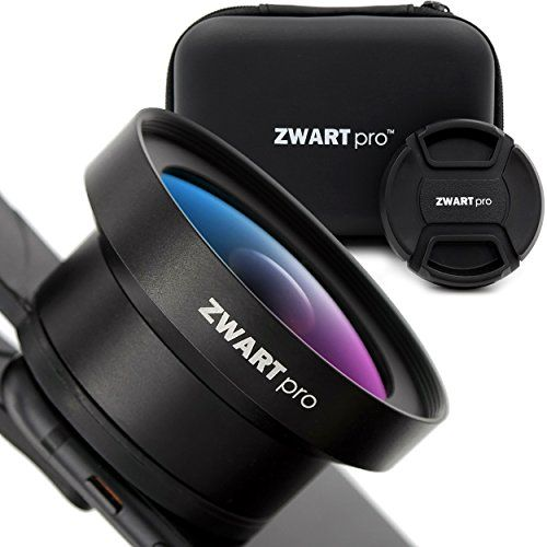 ZWARTpro 2in1 HD Phone Camera Lens Kit: 0.45x Wide Angle, 15x Macro, Universal Clip for iPhone Samsung and Most Smartphones + Traveling Box  https://topcellulardeals.com/product/zwartpro-2in1-hd-phone-camera-lens-kit-0-45x-wide-angle-15x-macro-universal-clip-for-iphone-samsung-and-most-smartphones-traveling-box/  PREMIUM MATERIALS AND CRAFTING – Made of high quality aluminum alloy and multi-layered coated optical glass that minimizes reflections, lens flare and ghosting