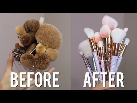 HOW TO CLEAN MAKEUP BRUSHES! - YouTube