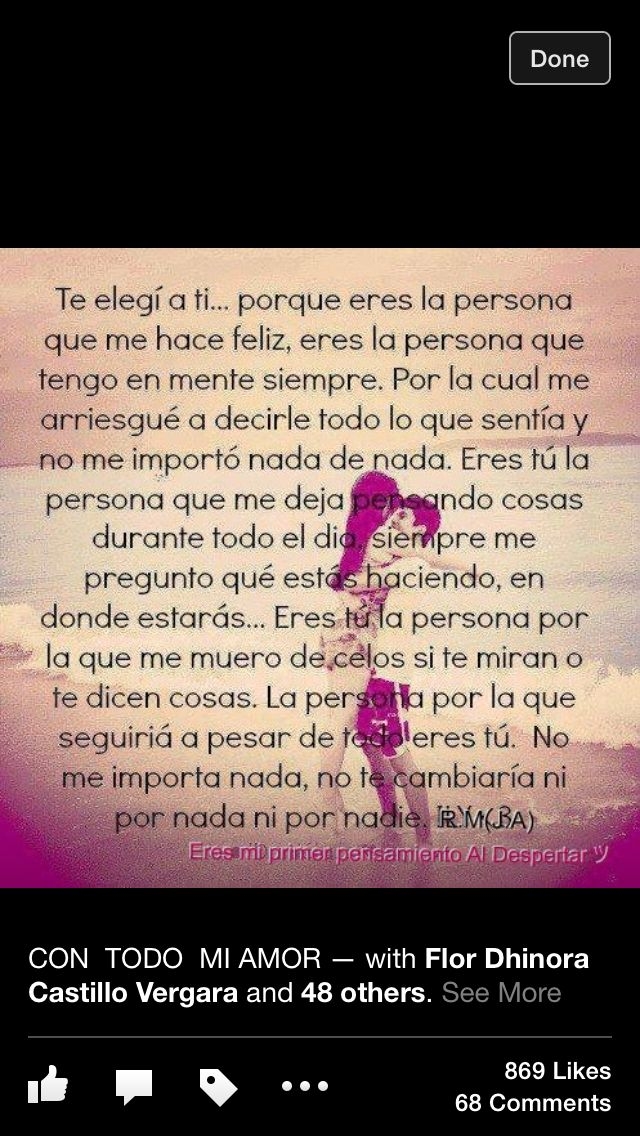 This true love quote is in Spanish , I love what it say