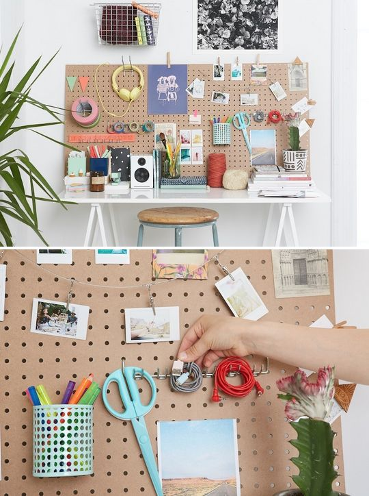 HOME OFFICE WORK STATION DESK PIN UP BOARD CUTE STUDENT CHILDRENS