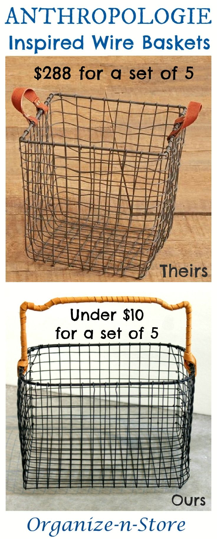 Home underbed storage baskets wicker underbed storage basket - Diy Anthropologie Inspired_wire Baskets