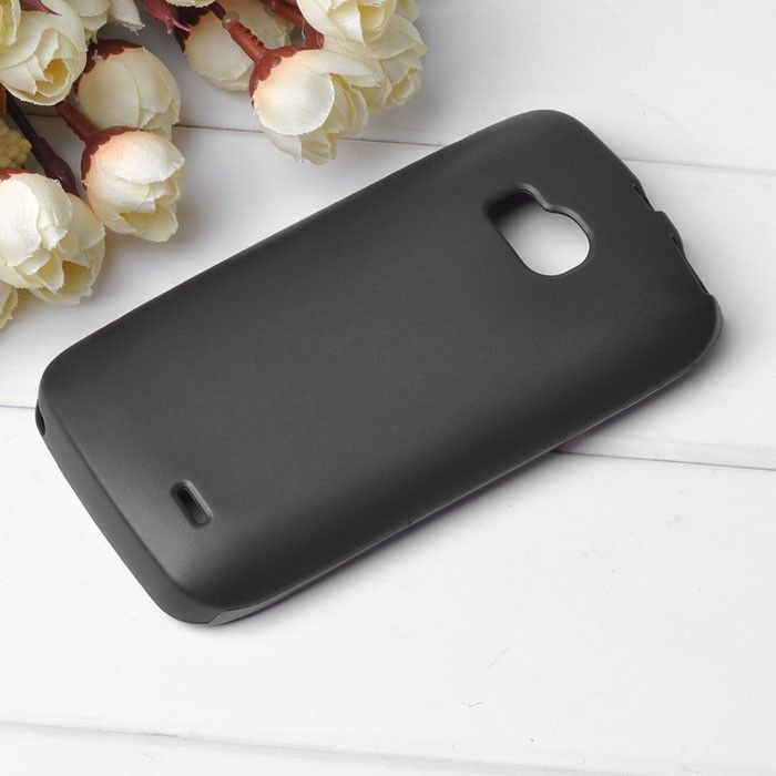 TPU Shell (Sort) Nokia Lumia 710 Deksel