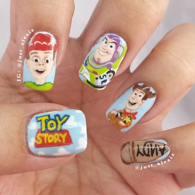 just_alexiz toy story #nail #nails #nailart