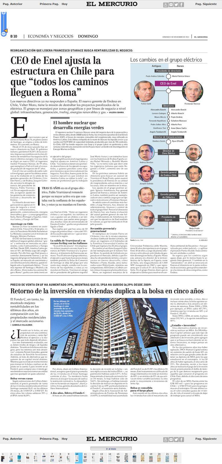 ENEL ajusta estructura en Chile