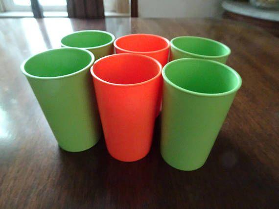 Tupperware Vintage Tupperware Tupperware Cups Orange