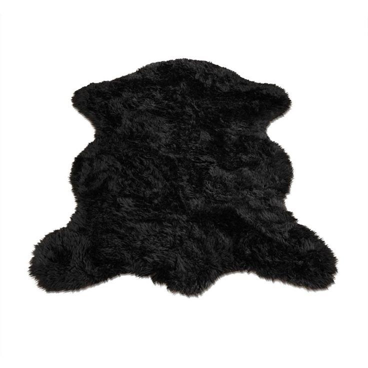 Classic Black Bear Pelt Rug