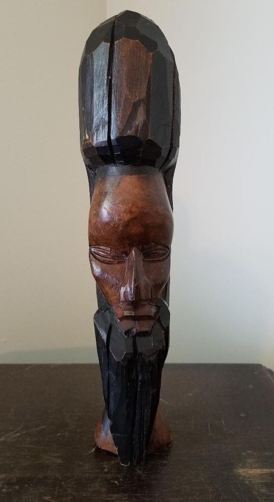 25 best projects to try images on pinterest vintage hand carved bearded african tribal warrior wooden figure statue fandeluxe Images