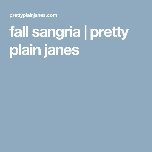 fall sangria | pretty plain janes