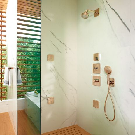 Shower at the touch of a button: Axor ShowerSelect   Hansgrohe International