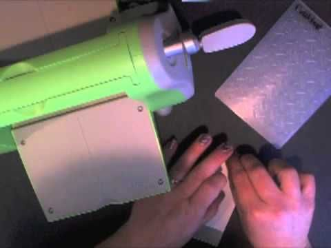 This video tutorial shows how to emboss duct tape using your Cuttlebug - great for scrapbooking and card making!