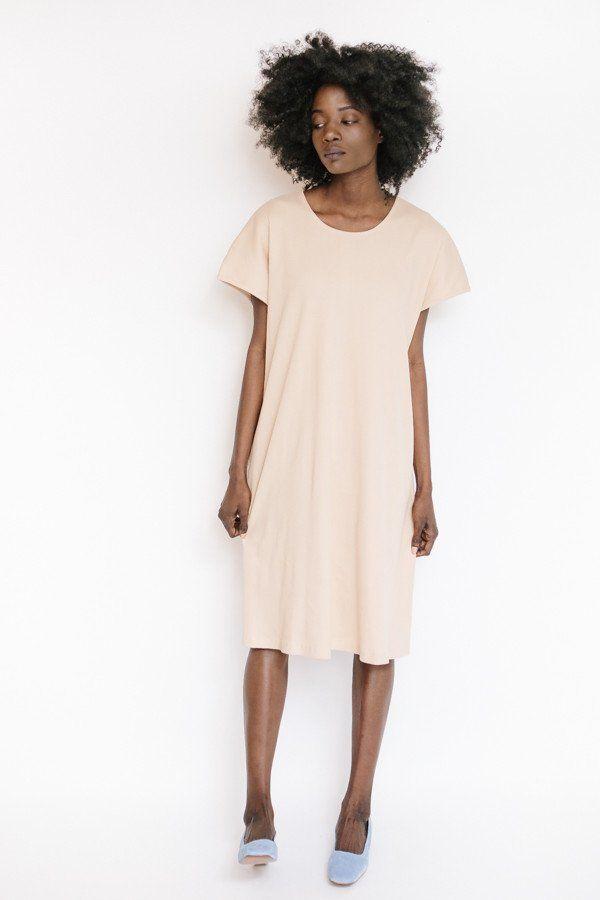 Revisited Matters Rib T-Shirtdress / Pink