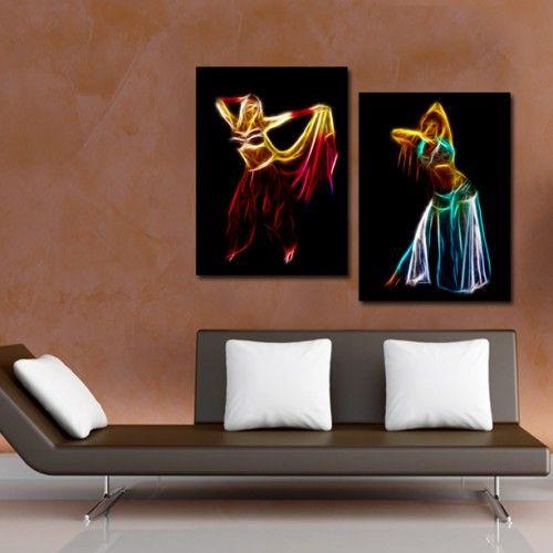 Tablou Canvas 2 piese  Dansatoare