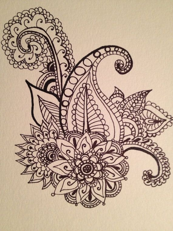 Henna Design Illustration by ShopLaveau on Etsy, $16.00