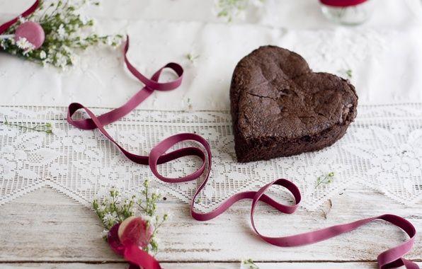 Обои на рабочий стол. Обои торт, food, cake, десерт, сердце, dessert, сладкое…