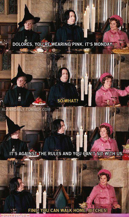 POPHANGOVER » Blog Archive » Harry Potter Humor: Part 2 (20 Pics)  Mean Girls and Harry Potter is always good.