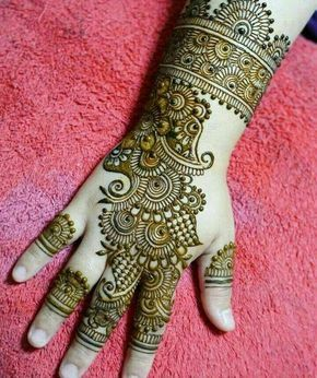 Mehndi Design for Back Hand