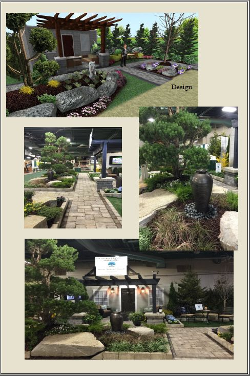 2015 Home and Garden Show booth designed by Kim Boruszewski