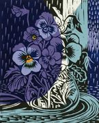 mauve and blue - annie soudain