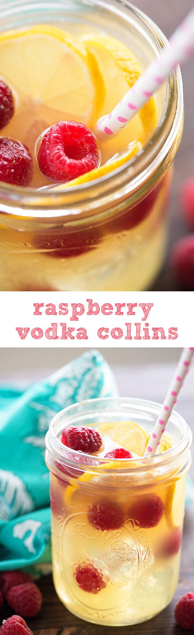 So refreshing! We love this fruity alcoholic drink for sipping by the pool - raspberry lemonade with vodka!