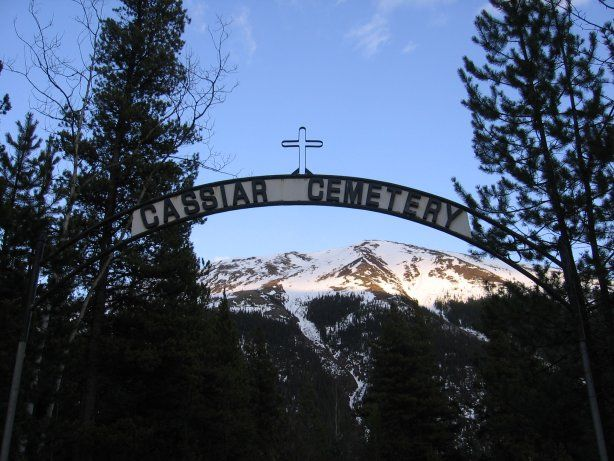 Abandoned Cassiar is a ghost town in British Columbia, Canada (Enterance of Cemtary over looking a mountian) Pic-6