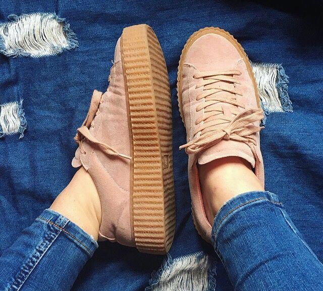 Yinka Creepers / Pink Faux Suede
