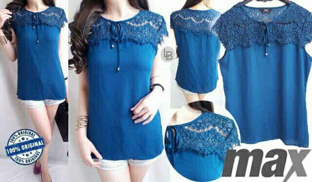 Jual Max Turkish Capsleeve Blouse hanya Rp 85.678, lihat gambar klik https://www.tokopedia.com/mamanya-zati/max-turkish-capsleeve-blouse    #max #turkish #capsleeve #blouse #blue #lace #chick #fashion #casual #beauty #bajumurah #branded #bajuori