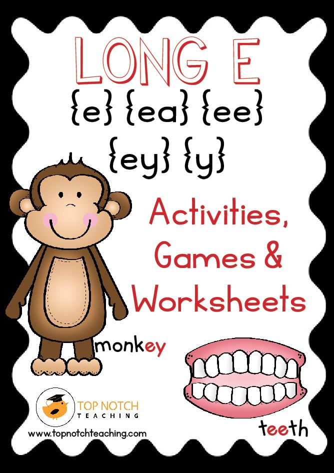 This pack includes fun, hands on activities and games for teaching 'Long E'. These activities are great for individual or small group work. There are also posters that can be used for display and word wall cards that can be added to a word wall or used as flashcards. ***Save 20% and pick up the …
