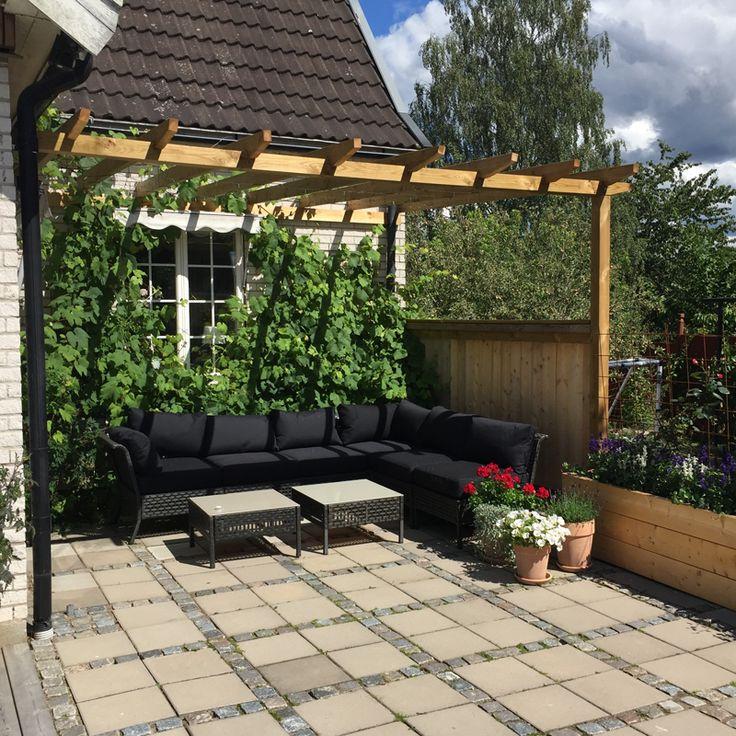 Bygga Pergola mot hus - Byggvarulistan.se