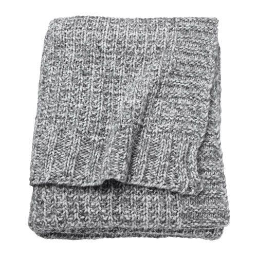 IKEA - DUNÄNG, Plaid, La laine est un matériau peu salissant, très résistant à l'usure qui isole et apporte un grand confort.