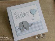 """Einladung zur Taufe """"Kleiner Elefant"""""""