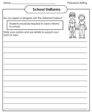 Persuasive essay exercises