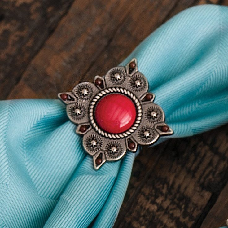 Red Concho Southwestern Napkin Rings - Set of 6 - Rustic Kitchen Accessories >>> Click on the image for additional details.