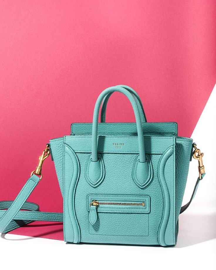 Celine nano luggage bag is in stores in this amazing new color ...