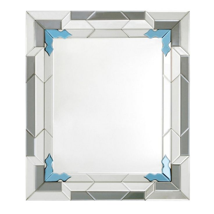Bungalow 5 Worth Mirror, Blue #mirror #interiorhomescapes #bungalow5 #walldecor #design #home #decor