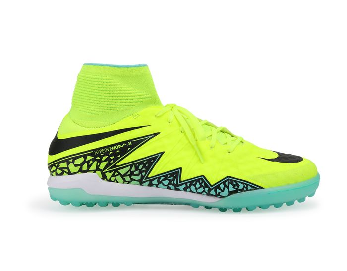 Nike Men's HypervenomX Proximo Turf Soccer Shoes Volt/Black/Black