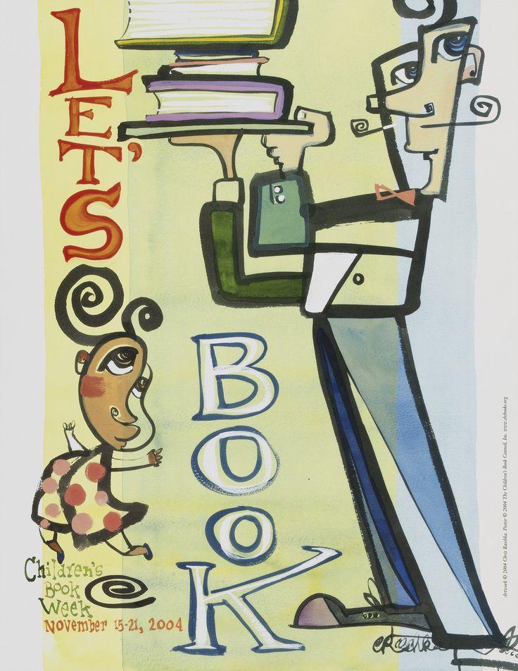 Official Children's Book Week poster, 2004, Chris Raschka (B. 1959)