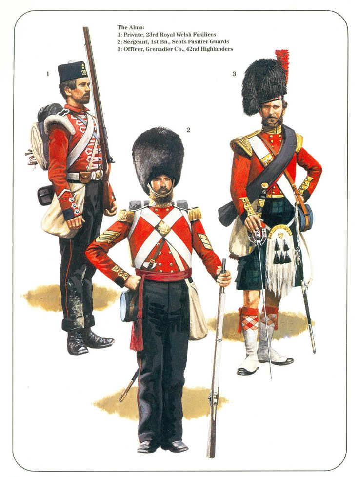 Print. Military Uniforms. Crimea Campaign - Pierre Turner