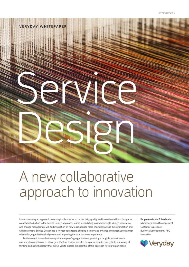 Setting the context for key economic and societal drivers behind the rise of Service Design, this paper goes on to illustrate how organizations can leverage this new approach to create mutual value for their organization and customers.