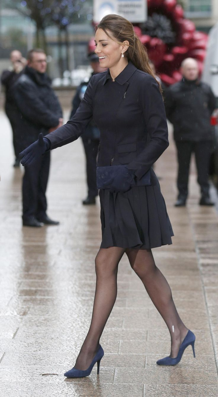 Kate Middleton's Skirt Goes Flying at Charity Appearance in London