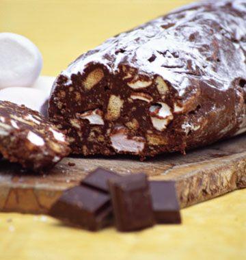 comme promis les filles : Saucisson au chocolat, avec modération tout de même :)